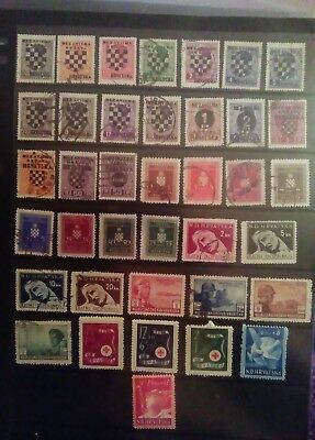 Stamps Used Mm Hvratska Croatia