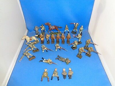 Group of Lineol / Elastolin / Misc. Maker Composition Toy Soldiers