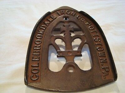 Antique 1800's Colebrookdale Iron Co. Pottstown, Pa. Iron Trivet