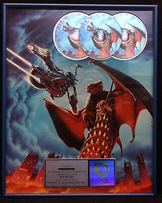 MEAT LOAF Bat Out Of Hell II 1993 RIAA Multi-Platinum CD Award Plaque MEATLOAF