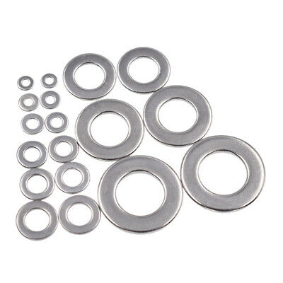 20 Pcs Stainless Steel Silver Washer Round Plain Flat Gasket DIN125 Rings Set