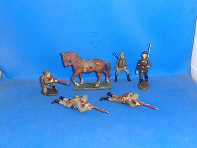 Group of Elastolin and Lineol German Toy Soldiers