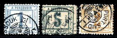 EGYPT 1880 's POSTAGE DUES FINE USED LOT.    A105