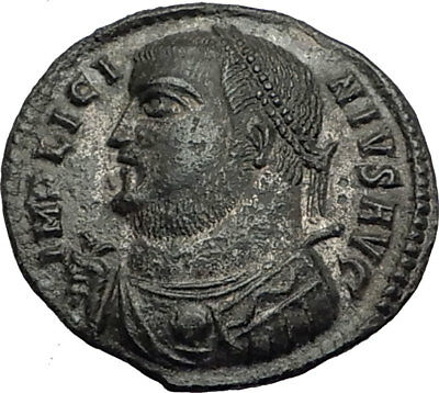 LICINIUS I 317AD Original Authentic Ancient Roman Coin JUPITER VICTORY i64912