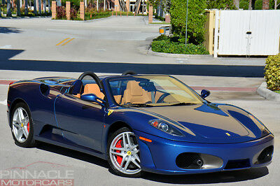 2007 Ferrari 430 F1 Spider! 4K Miles! Ceramic Brakes! Loaded! 2007 Ferrari 430 Spider F1! 4K Miles! Nart Blue/Tan! Ceramic Brakes! Loaded!