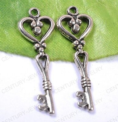 NP844 Lots 10pcs tibet silver key charms pendant 42MM
