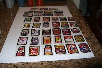 41 Vintage TOPPS CHEWING GUM STICKERS-so Funny