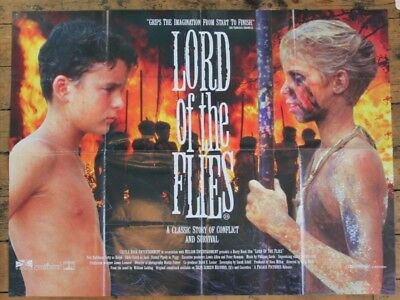 LORD OF THE FLYS UK quad Cinema film poster 1980s original