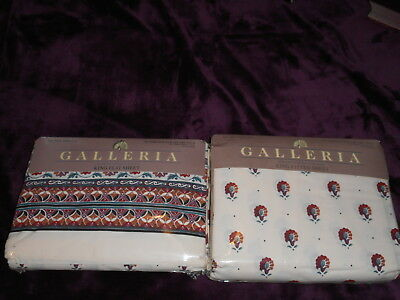 Vintage J P Stevens Galleria King 2 Sheet Set  1 Flat And 1 Fitted New Old Stock