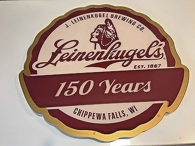 "Brand New Leinenkugel's 150 Years LED Sign 22""  Unique Neon Bar Man Cave"
