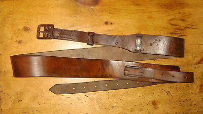 """WW1 British 1916 D.Mason & Sons marked Canadian Cavalry Leather Horse Strap 80"""""""