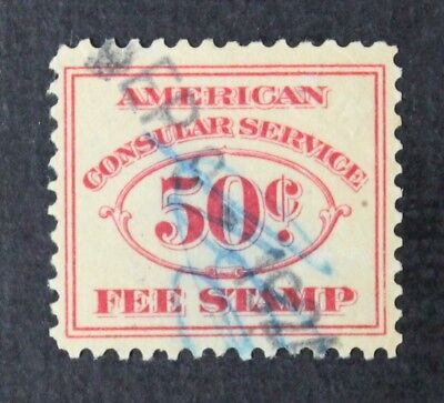 CKStamps: US Revenue Consular Service Fee Stamps Scott#RK2 Used CV$150