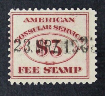 CKStamps: US Revenue Consular Service Fee Stamps Scott#RK6 Used CV$42.50