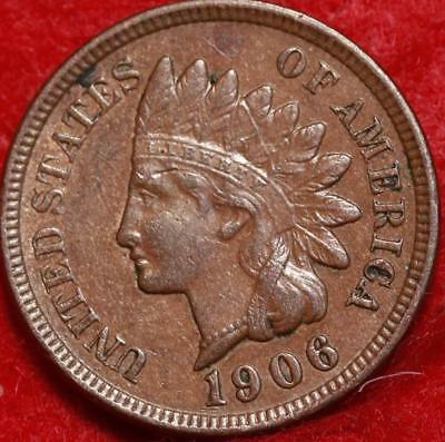 1906 Philadelphia Mint Copper Indian Head Cent Free Shipping