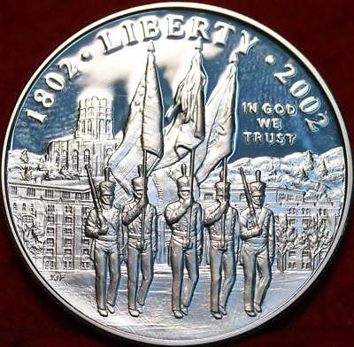 Uncirculated Proof 2002-W West Point  Mint Silver Dollar Free S/H