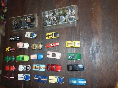 VTG aurora slot car lot 1960s 70s hot rod parts restore
