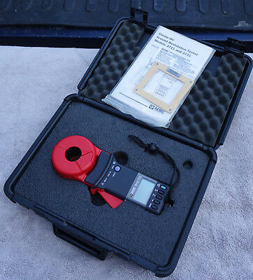 AEMC 3731 Clamp-On Ground Resistance Tester - Mint in Case w/25 Ohm Loop & Docs!