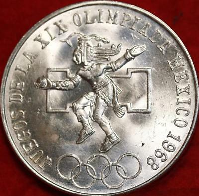 Uncirculated 1968 Mexico 25 Pesos Silver Foreign Coin Free S/H!
