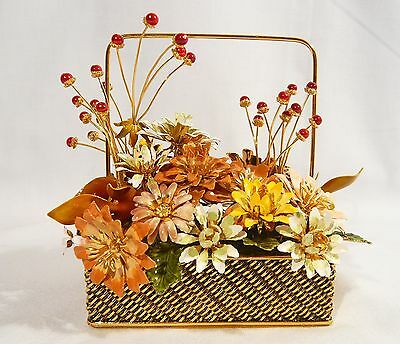 Faberge Franklin Mint  Flowers of the Season FALL BOUQUET 24 Gold Plate