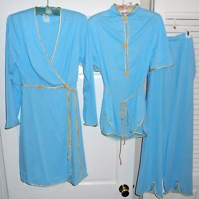 VTG Lingerie 3-Piece Lounging Pajamas & Robe Set  Sz 34~Sears~ 1950s Great Cond>