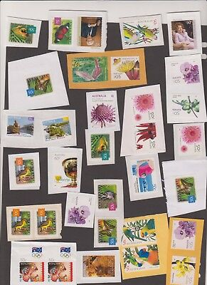 Unfranked Australian stamps - 4 scans