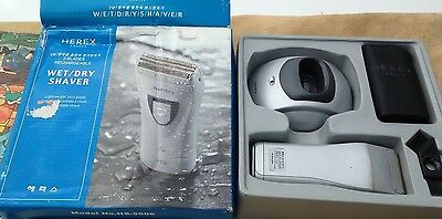 NEW HEREX 2 BLADE WET / DRY ELECTRIC SHAVER IN BOX 110/220 European Plug