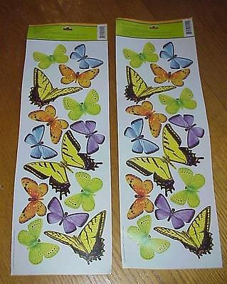 Main Street Wall Creations Jumbo Stickers   Colorful Butterflies   Wall  Decals Part 68