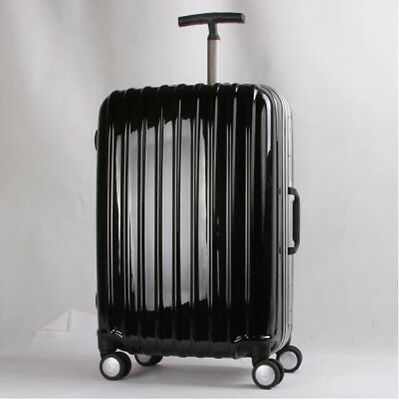 24 Inchs Black Business ABS+PC Simple Universal Wheel Password Travel Suitcase.