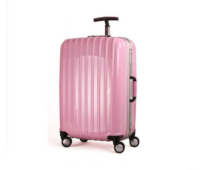 """24"""" Pink ABS+PC Universal Wheel Password Travel Suitcase / Trolley luggage."""