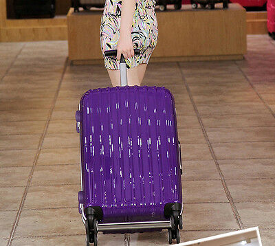 """24"""" Purple ABS+PC Universal Wheel Password Travel Suitcase / Trolley luggage."""
