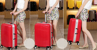 """24"""" Red ABS+PC Universal Wheel Password Travel Suitcase / Trolley luggage."""