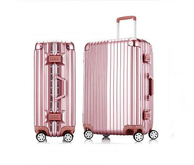 """26"""" Pink PC+ABS Universal Wheel Password Travel Suitcase/Trolley luggage."""
