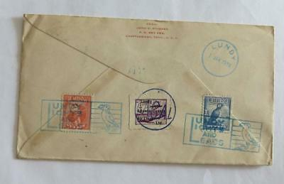 GB Lundy Island 1939 envelope to USA with 3 different stamps, good cancels