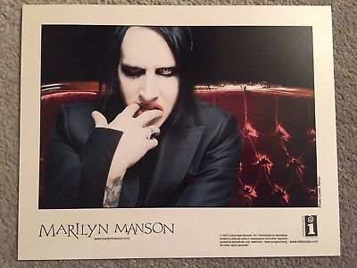 """MARILYN MANSON promo only full color 10"""" x 8"""" publicity photo RARE OOP (2007)"""