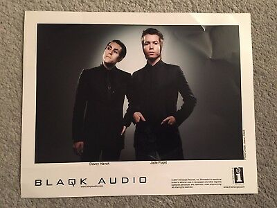 "BLAQK AUDIO promo only full color 10"" x 8"" publicity photo RARE OOP (2007) AFI"