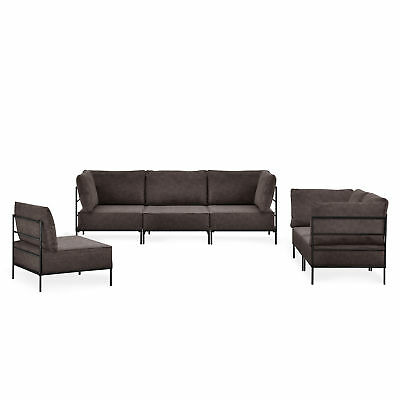 sofa couch 1x 3 sitzer 1x 2 sitzer 1x sessel eiche gestell eur 199 99 picclick de. Black Bedroom Furniture Sets. Home Design Ideas