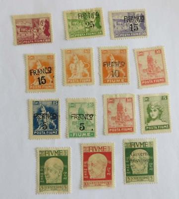 Fiume 1919 - 24 small collection unused