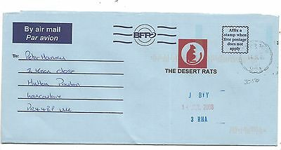 2008 Desert Rats Aerogram British Forces Middle East BFPO 3050