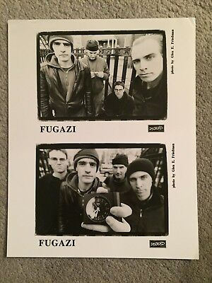 "FUGAZI promo only B&W 8"" x 10"" publicity photo RARE OOP Dischord Records"
