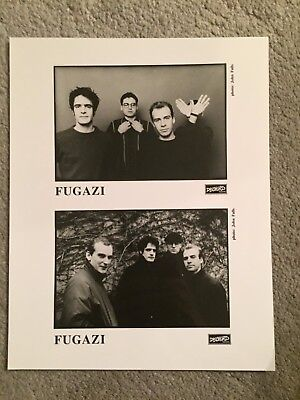 "FUGAZI promo only B&W 8"" x 10"" publicity photo RARE OOP Dischord Records OOP"