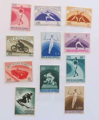 San Marino small collection (61 stamps) unused