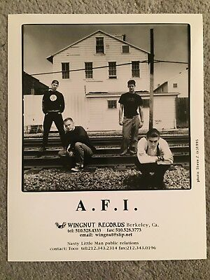 "AFI promo only B&W 8"" x 10"" publicity photo RARE OOP Wingnut Records 1995 A.F.I."