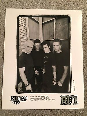 "AFI promo only B&W 8"" x 10"" publicity photo RARE OOP Nitro Records A.F.I. punk"