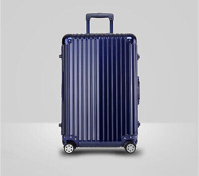 """26"""" Blue PC+ABS Universal Wheel Password Travel Suitcase/Trolley luggage."""
