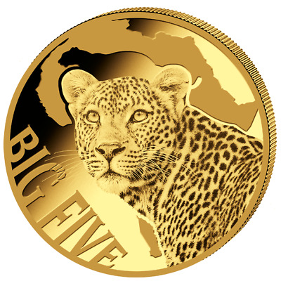 0,5g Cameroon Leopard Big Five 100 Francs Gold 2017