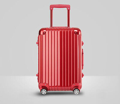 """26"""" Red PC+ABS Universal Wheel Password Travel Suitcase/Trolley luggage."""