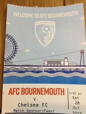 28/10/2017..AFC BOURNEMOUTH v CHELSEA PROGRAMME OFFICIAL MINT UNOPENED
