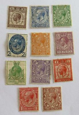 GB KGV small collection unused