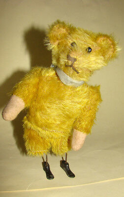 RARE ADORABLE  mechanical  wind-up  Bing  teddy  bear  Germany  early  1900 'S