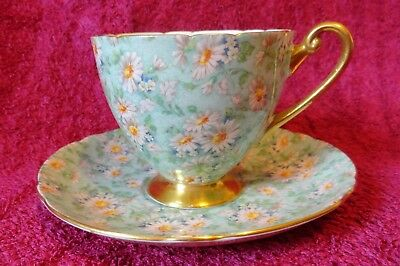 Shelley Cup & Saucer, Margurite Chintz